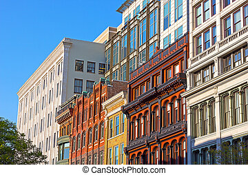 Business buildings, Washington DC. - US capital business...