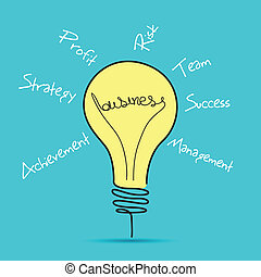 Business Bulb - illustration of business bulb with business...