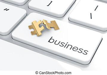 Business button concept