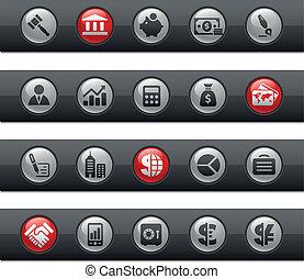 business, buttonbar, finance, /, &