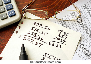 Business calculation concept.
