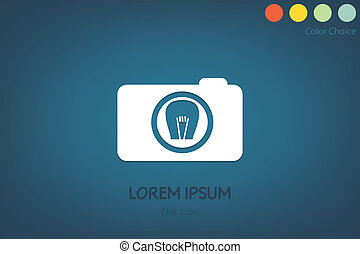 Business camera icon, vector eps10