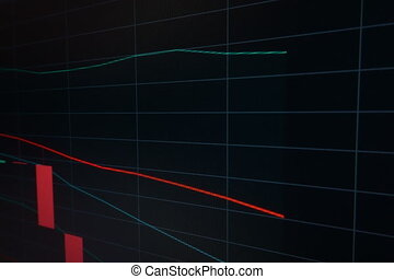 Business candle graph chart of stock market
