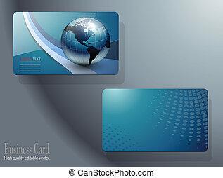 business card, šablona