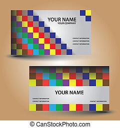 business card, barva, cihlový, eps10