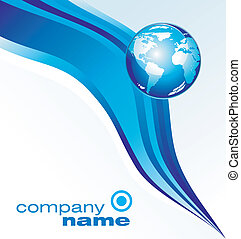 Business Card - Blu style Concept Earth Business background