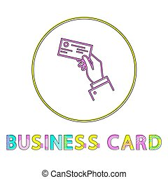 Business Card Bright Linear Round Icon Template