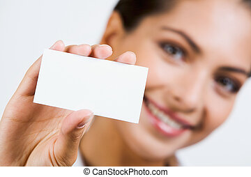 Business card - Close-up of professional?s white business ...