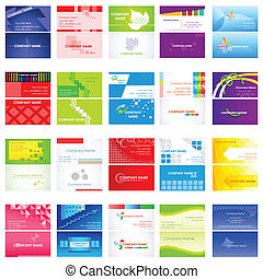 Business Card Collection - easy to edit vector illustration...