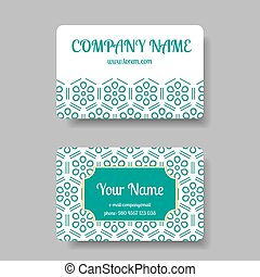 Business card collection with chinese ornament