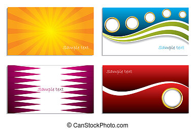 Business card collection with different designs and colors