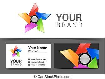 business card creative design template Corporate Identity logo