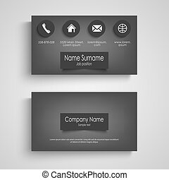 Business card dark with design labels template