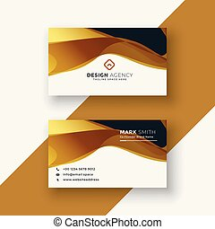 business card design in golden style