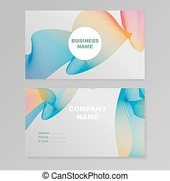 Simplicity business card design with elegant polygon element over business card design rainbow reheart Choice Image
