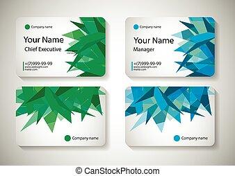 Business Card Design Vector illustration.