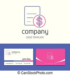 Business card design with arrows company logo vector
