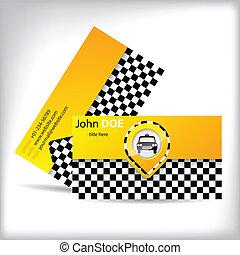 Business card design with car symbol