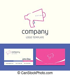 Business card design with company logo vector