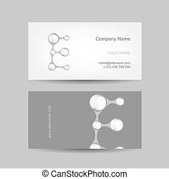 Business card design with letter E