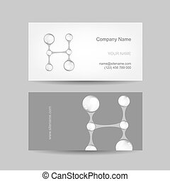 Business card design with letter H
