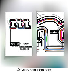 Business card design with letter m