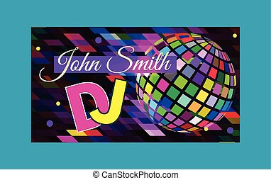 Abstract colorful music company business card business card dj reheart Image collections