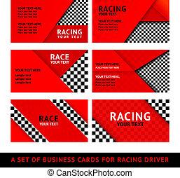 Business card driver race - second set