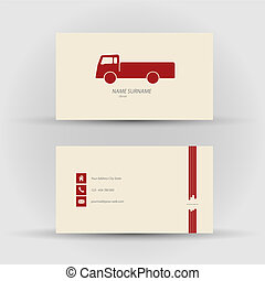 business card, driver