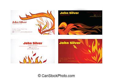 Business card fire