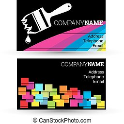 Business card for businesses painti