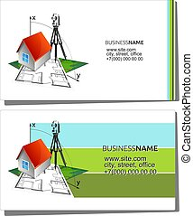 Business card for geodesy and cadastre - Business card...