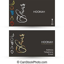 Business card for hookah cafe business