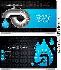 Business card for plumbing repair