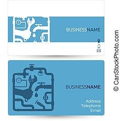 Business card for repair plumbing
