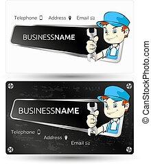 Business card for repair