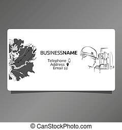 Business card for surveyor - Visiting card for the surveyor....