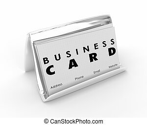 Business Card Holder Advertise Your Company Get Customers 3d Illustration