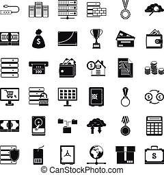 Greeting card icons set simple style greeting card icons vector business card icons set simple style m4hsunfo