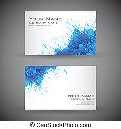 Business Card - illustration of front and back of corporate ...