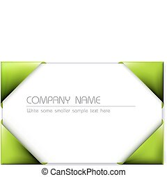 Business card in the green card holder