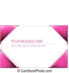 Business card in the pink card holder