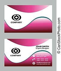 business card, karafiát, barva