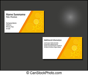 Business card with gold stars on grey