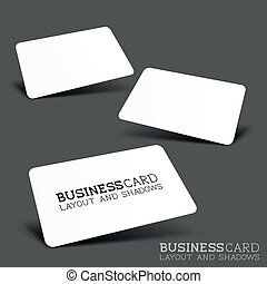 Business Card Layout & Shadows