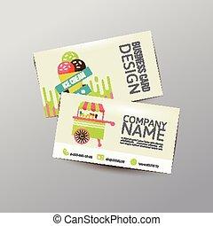 Business card - Modern simple light business card template ....