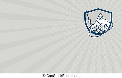 Business card Neptune Power Washer Shield Retro