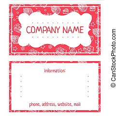 business card of white cakes