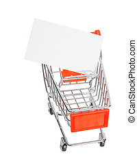 Business card on a shopping trolley small.