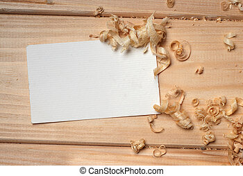 business card on wooden table